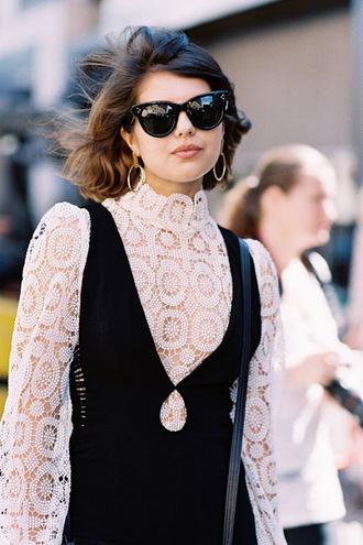 vanessa jackman blogger blouse bag lace top lace