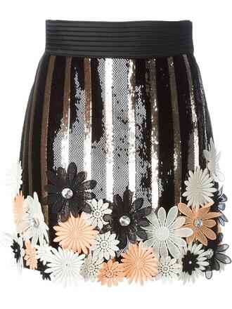 skirt sequin skirt black