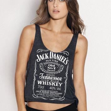 Jack Daniels whiskey Women Ladies' Tank top tee Handmade SCREEN Printing on shirt size L XL - By Joyce9866ML XL - By Joyce9866 on Wanelo