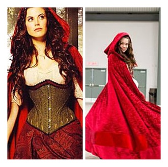 little red riding hood cloak once upon a time ruby red cloak dress