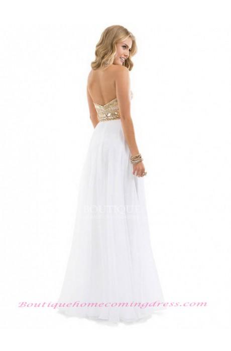 Empire sweetheart chiffon prom dress