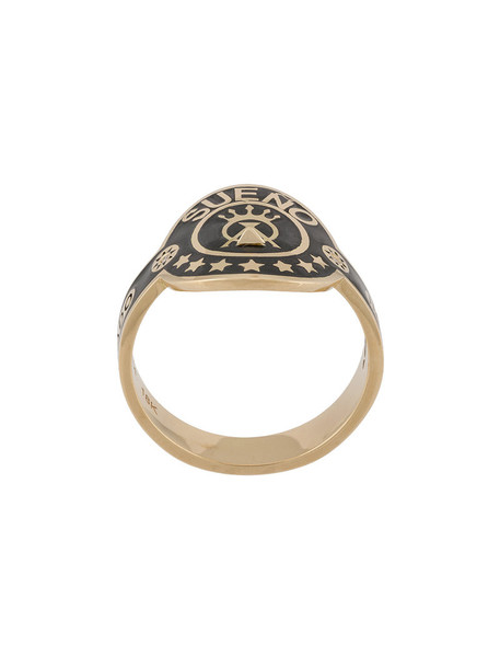 Foundrae women ring gold grey metallic jewels