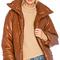 Nanushka hide jacket in rust from revolve.com