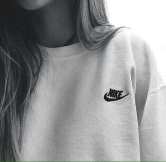 sweater sweatshirt nike white tumblr