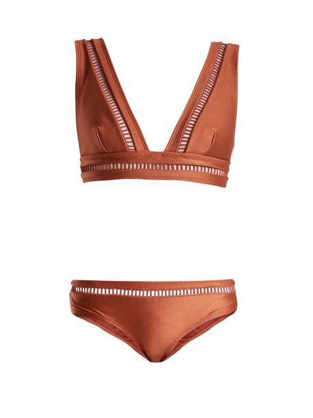 Zimmermann bikini lace bikini lace pink swimwear