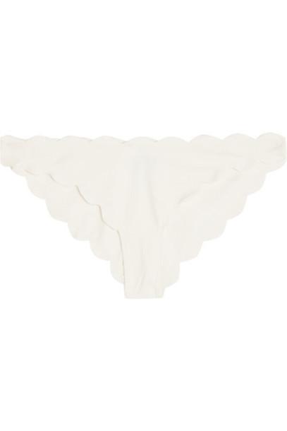 Marysia bikini scalloped white swimwear