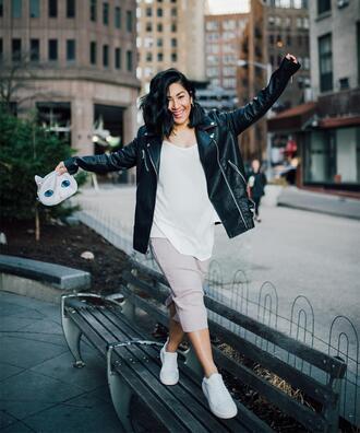 mimi & chichi blog blogger shirt skirt jacket bag shoes