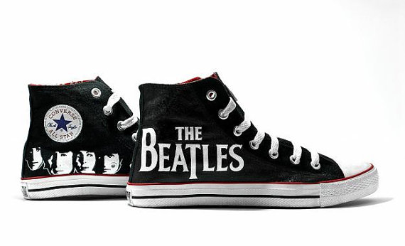 The Beatles Converse All Star Shoes by RahulMistry on Etsy
