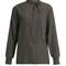 Brick-print silk-crepe blouse | bottega veneta | matchesfashion.com us