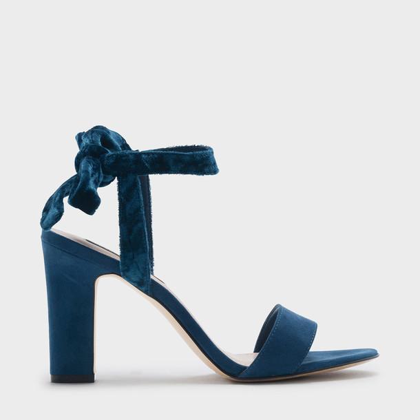 open sandals blue shoes