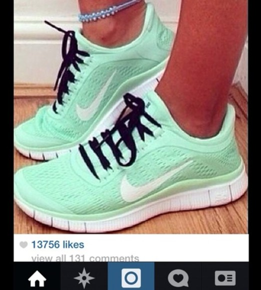 mint shoes teal nike running shoes