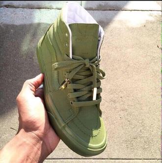 shoes vans vans sk8 hi army green