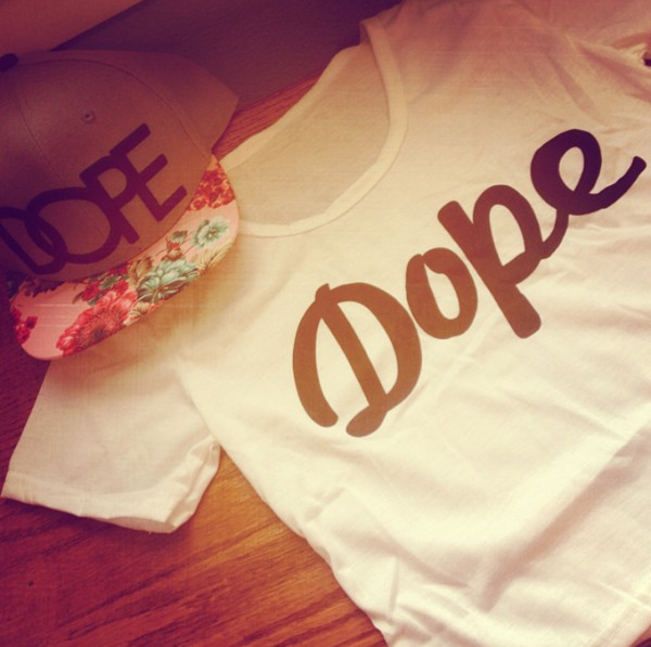 shirt dope crop tops hat floral