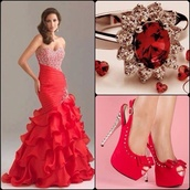 dress,red,prom dress,mermaid prom dress,mermaid wedding dress,mermaid dresses,sparkle,glitter,shoes,red dress,ring,redshoes
