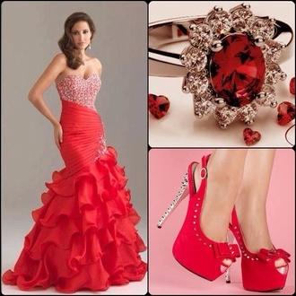 dress red prom dress mermaid prom dress mermaid wedding dress mermaid dresses sparkle glitter shoes red dress ring redshoes