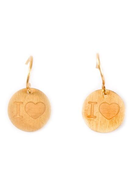 Marie Helene De Taillac women love earrings gold grey metallic jewels
