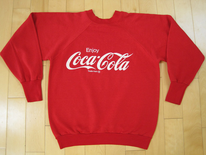 Tshirt Time Machine > SUPER DOPE!! 80s vintage COCA COLA SWEAT SHIRT coke SODA POP medium