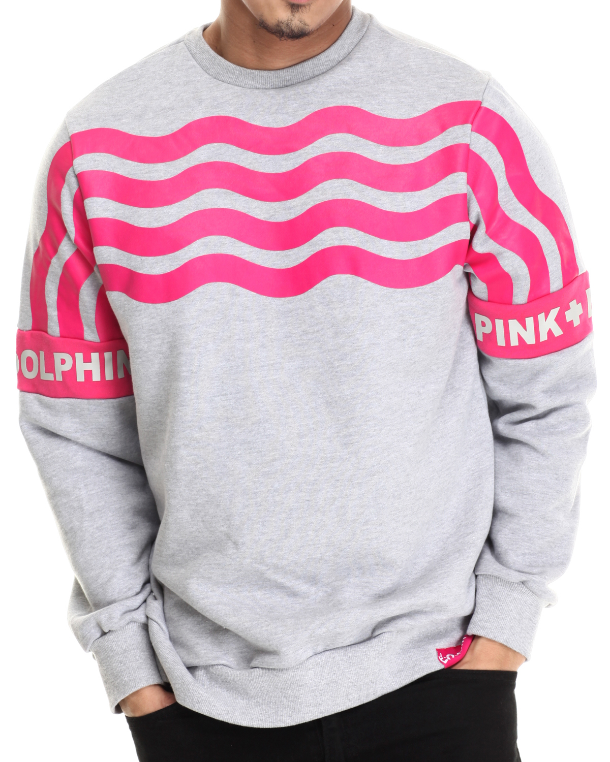 Stripe crewneck sweatshirt by pink dolphin