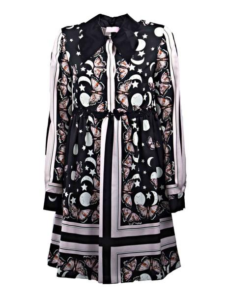Giamba dress print dress butterfly print black