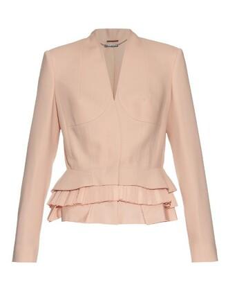 jacket silk wool pink