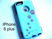 phone cover,otterbox,glitter otterbox case,iphone cover,iphone,iphone 6plus,iphone 6 plus,paw prints,cat eye,iphone 6 otterbox,glitter,glitter case,etsy,etsy sale,cute classic etsy,sale