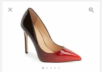 shoes heels red black women daya women ombre high heel pumps