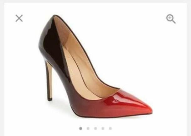 shoes, heels, red, black, women daya
