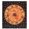 Orange zodiac horoscope tapestry wall hanging