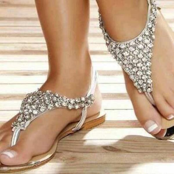shoes sparkaly sandals
