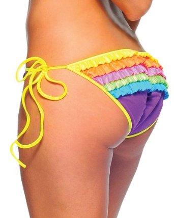 Amazon.com: Rave Ruffle Rainbow Rhumba Bikini Bottoms - ONE SIZE: Clothing