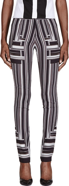 Peter Pilotto white black black and white pants
