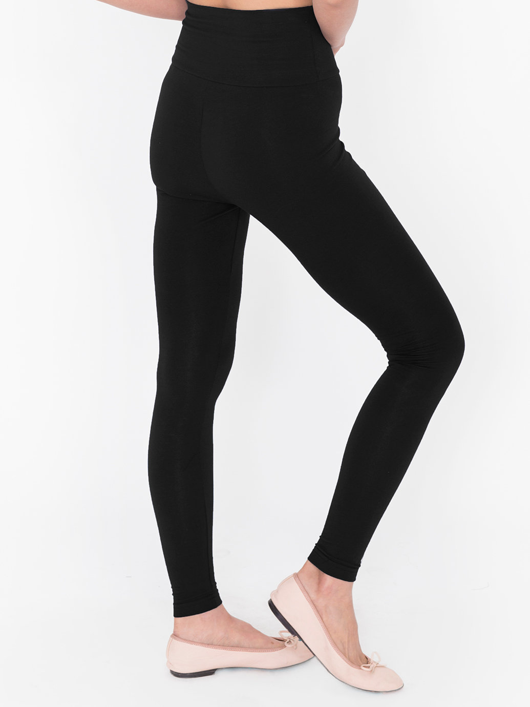 Black Cotton Leggings - Trendy Clothes
