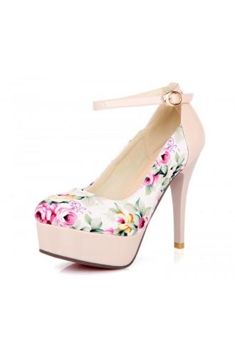 Escarpins beiges Magnolia - Chaussures femmes petites pointures