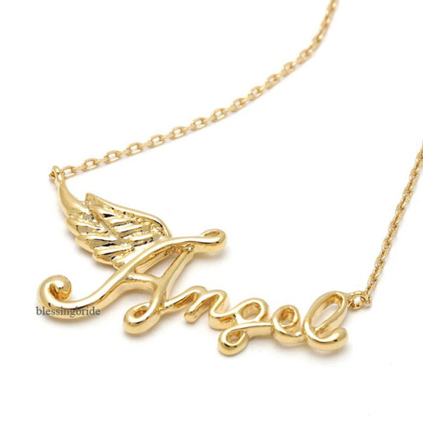 jewels jewelry necklace angel necklace angel girl necklace girl birthday gift cute necklace pretty necklace
