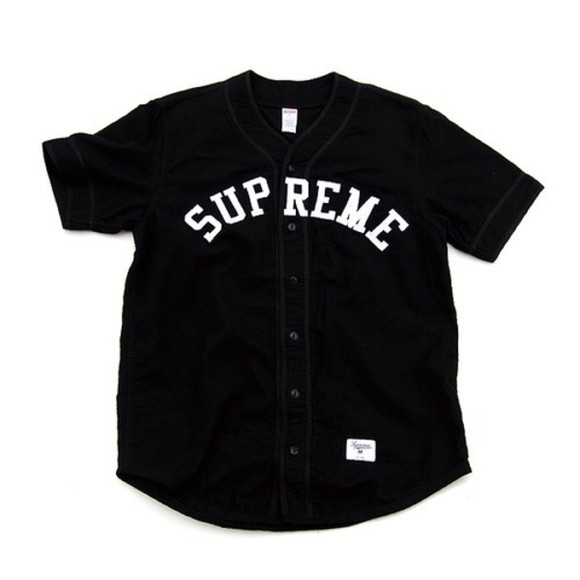 jacket baseball jacket baseball tee follow is follow back natachaxo tumblr outfit supreme chanel oversized shirt dress shirt black white edgy streetwear cute