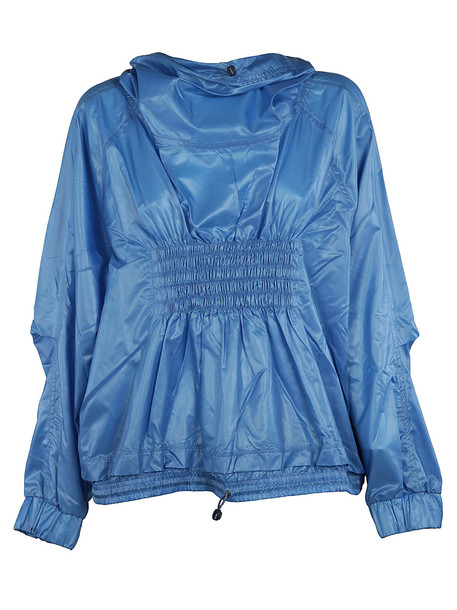 Adidas Gathered Front Sports Jacket in blue