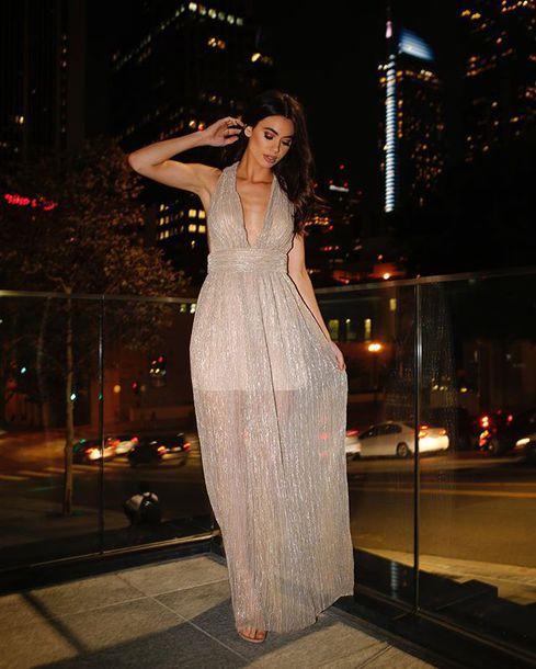 dress maxi gown city night angl prom dress prom gown shiny sparkly dress shiny dress