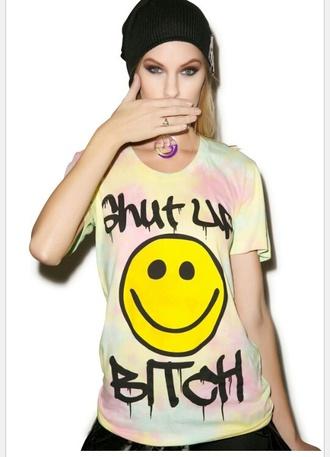 t-shirt tie dye shirt tie dye smiley