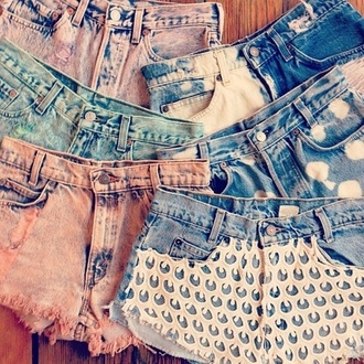 shorts short shorts lace shorts pink blue jeans bleached short lovely peach mint bottoms summer
