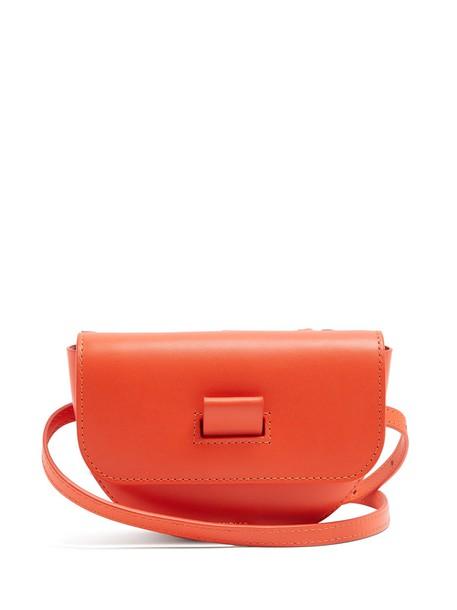 belt bag bag leather orange