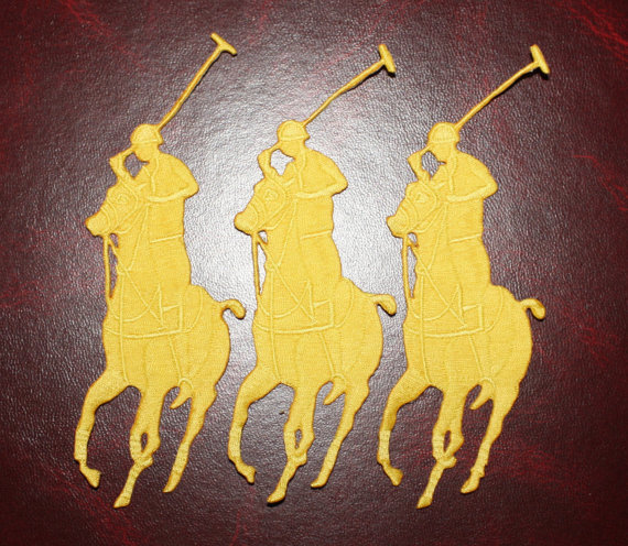3 Pieces Polo Horse Oversized Pony Patch Emblem Iron On Sew On