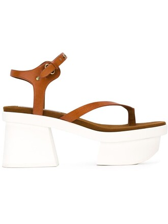 sandals platform sandals brown shoes