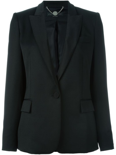 Stella McCartney jacket women classic black silk wool