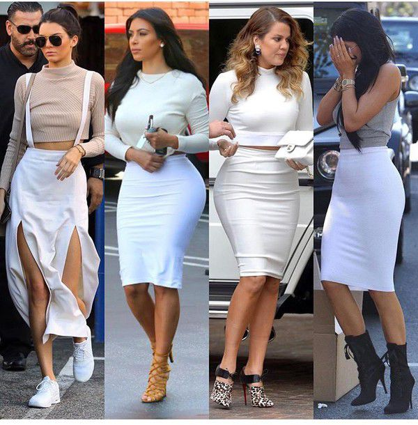 f176c78dc9cf skirt, pencil skirt, white skirt, high waisted skirt, outfit, outfit ...