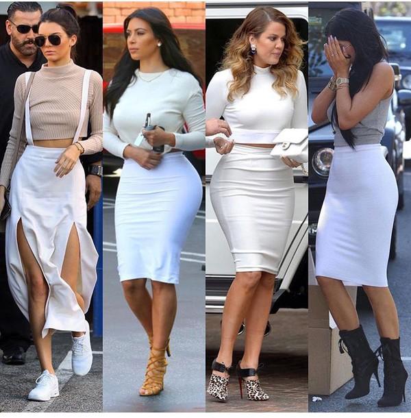 skirt pencil skirt white skirt high waisted skirt
