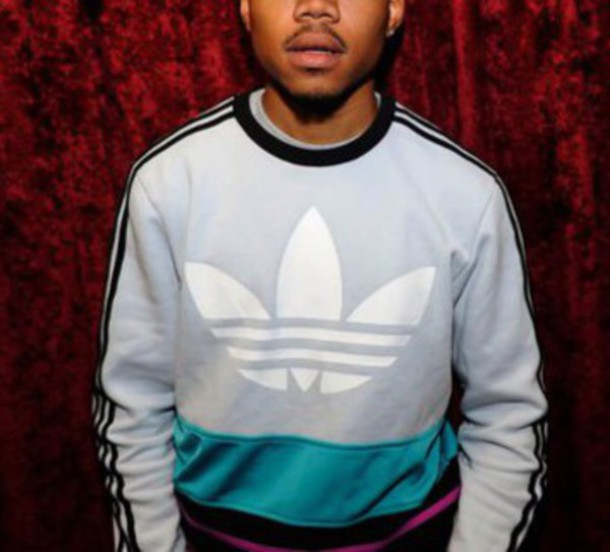 Sweater Adidas Teal Chance The Rapper Wheretoget