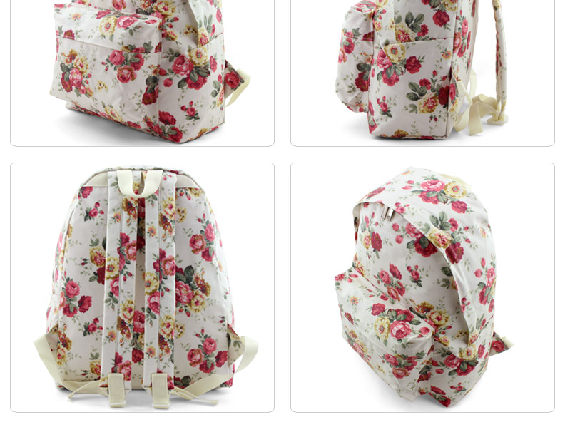 Brand Womens Cute Flower Pattern Backpack Girls School Backpacks ...