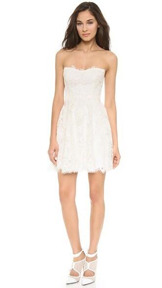 dress mini dress mini lace white silk