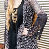 jewels,necklace,long necklace,tassel,black,gold,amazinglace.com