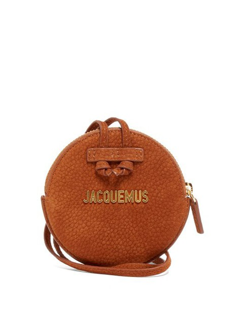 purse suede brown bag